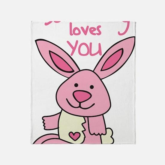 Somebunny Loves You Throw Blanket