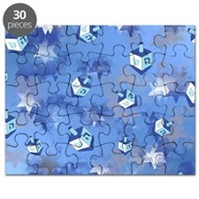 Judaica Driedels and Stars Puzzle