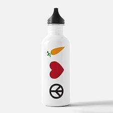 Peace Love Carrots Water Bottle