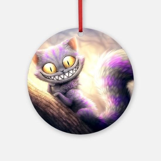 Cheshire Cat Round Ornament