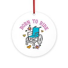 Born To Ride Round Ornament