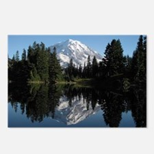 Mt. Rainier reflection 1 Postcards (Package of 8)