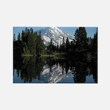 Mt. Rainier reflection 1 Rectangle Magnet