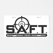 SAFT Black Aluminum License Plate