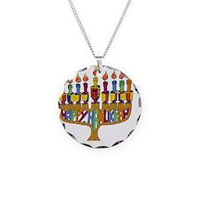 Happy Hanukkah Dreidel Menor Necklace