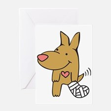 Broken Leg - Wagging Tail Greeting Card