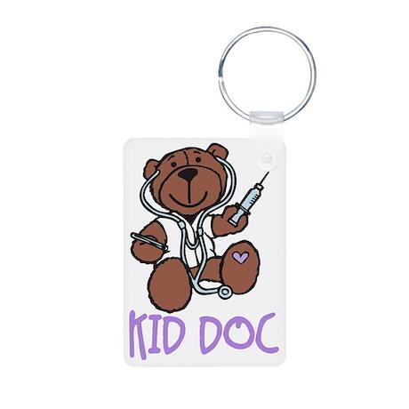 Kid Doc Aluminum Photo Keychain