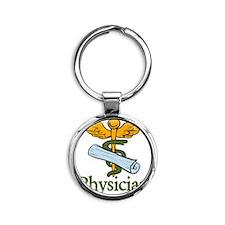 Physician Round Keychain