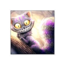 "Cheshire Cat Square Sticker 3"" x 3"""