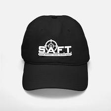 SAFT White on Black Baseball Hat