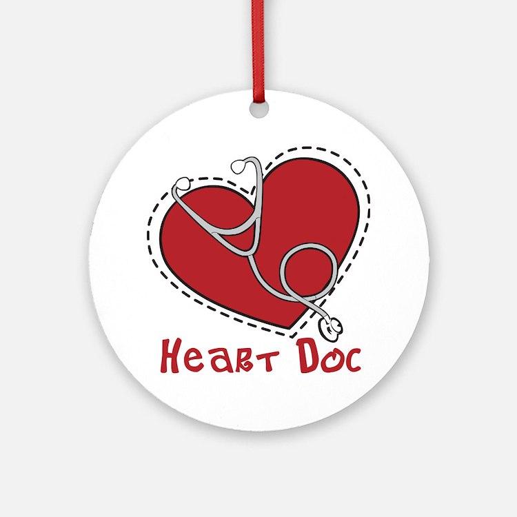 Heart Doc Round Ornament