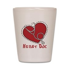 Heart Doc Shot Glass