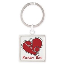 Heart Doc Square Keychain