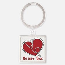 Heart Doc Square Keychain