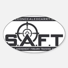 SAFT Black Logo with Web Address Decal