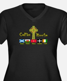 My Celtic Heritage. Women's Plus Size V-Neck Dark