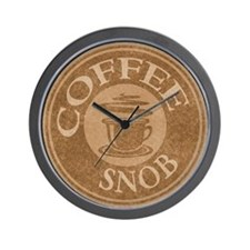 Coffee Snob Coffee Logo Wall Clock