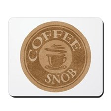 Coffee Snob Coffee Logo Mousepad