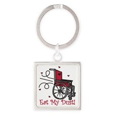 Eat My Dust Square Keychain