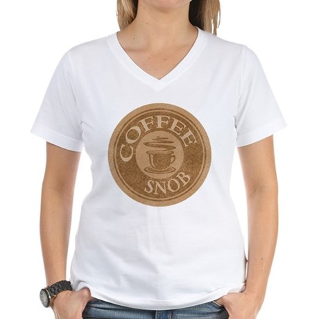 Coffee Snob Coffee Logo Women's V-Neck T-Shirt