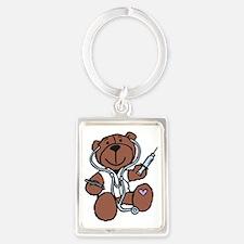 Doctor Teddy Portrait Keychain