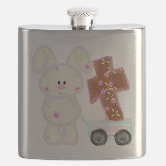 Bunny with a cross Flask