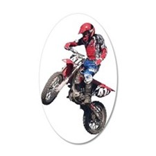 Red Dirt Bike Wall Decal