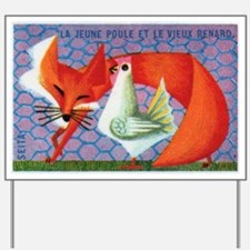 The Young Hen and The Old Fox Matchbox L Yard Sign