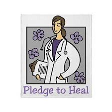 Pledge To Heal Throw Blanket