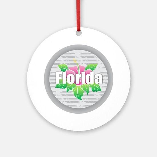 Florida Hibiscus Round Ornament
