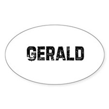 Gerald Oval Decal