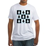 Penguin Pattern Fitted T-Shirt