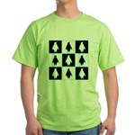 Penguin Pattern Green T-Shirt