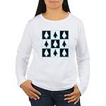 Penguin Pattern Women's Long Sleeve T-Shirt