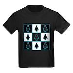 Penguin Pattern Kids Dark T-Shirt