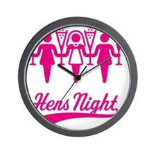 Hens Night (Bachelorette Party), magent Wall Clock