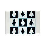 Penguin Pattern Rectangle Magnet