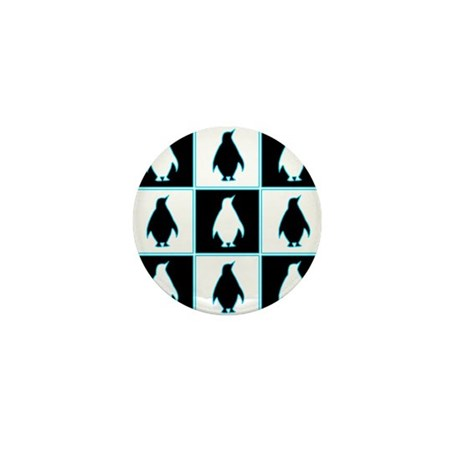 Penguin Pattern Mini Button