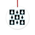 Penguin Pattern Ornament (Round)