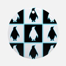 Penguin Pattern Ornament (Round)