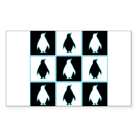 Penguin Pattern Rectangle Sticker