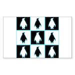 Penguin Pattern Rectangle Sticker