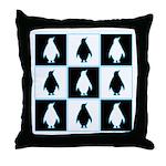 Penguin Pattern Throw Pillow