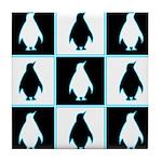 Penguin Pattern Tile Coaster