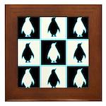 Penguin Pattern Framed Tile