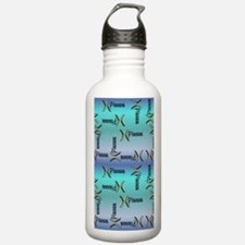 Blue Pisces Sign of th Water Bottle