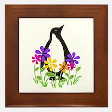 Penguin Garden Framed Tile