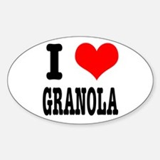 I Heart (Love) Granola Oval Decal