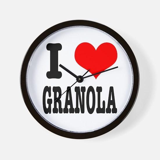 I Heart (Love) Granola Wall Clock