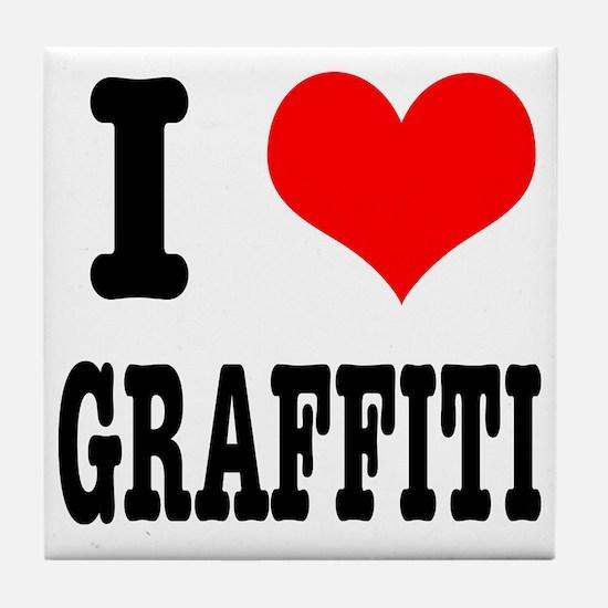 I Heart (Love) Graffiti Tile Coaster